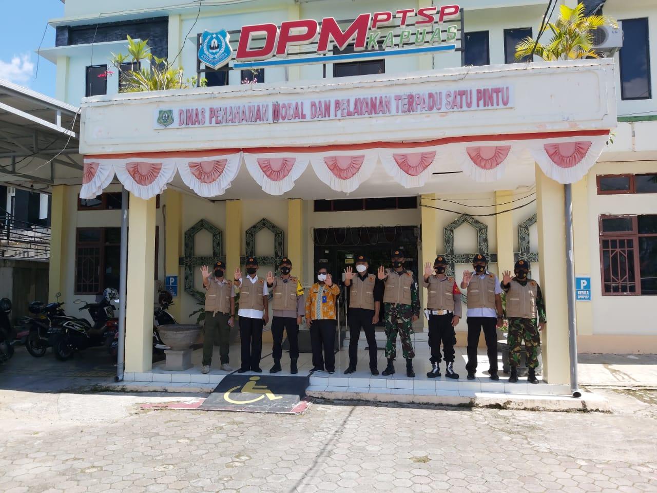 Tim Satgas Saber Pungli Kab.Kapuas kunjungan ke DPMPTSp Kapuas